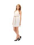 Adolescente precioso en vestido elegante Foto de archivo