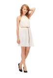 Adolescente precioso en vestido elegante Fotografía de archivo