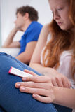 Adolescente preoccupato Fotografia Stock Libera da Diritti