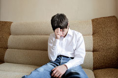 Adolescente preocupado Fotografía de archivo libre de regalías