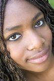 Adolescente preto fotografia de stock