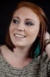 Adolescente principal rojo Foto de archivo libre de regalías