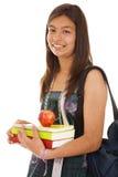 Adolescente pronto para ir para trás à escola Fotografia de Stock Royalty Free