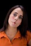 Adolescente puckering la boca Fotografía de archivo libre de regalías