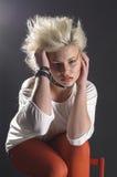Adolescente punky femenino joven Fotos de archivo libres de regalías