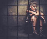 Adolescente punky preocupado Imagenes de archivo