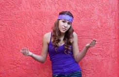 Adolescente que actua resistente Fotos de Stock Royalty Free