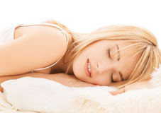 Adolescente que duerme en casa Fotografía de archivo libre de regalías