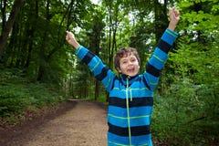 Adolescente que es muy feliz Fotografía de archivo