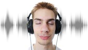 Adolescente que escucha la música Fotografía de archivo libre de regalías
