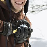 Adolescente que faz o snowball. Foto de Stock
