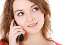 Adolescente que habla en el teléfono Imagen de archivo