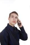 Adolescente que habla en el teléfono Fotografía de archivo