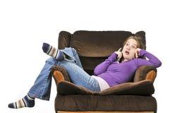 Adolescente que habla en un teléfono Imagenes de archivo