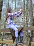 Adolescente que habla un Selfie Imagen de archivo