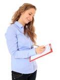 Adolescente que hace una encuesta Imágenes de archivo libres de regalías