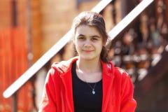 Adolescente que mira la cámara Fotografía de archivo