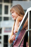 Adolescente que mira lejos Imagen de archivo