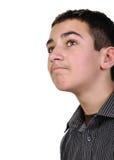 Adolescente que mira para arriba Imagen de archivo