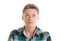 Adolescente que mira para arriba Imagen de archivo libre de regalías