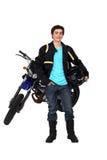 Adolescente que monta una moto Imagenes de archivo