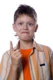 Adolescente que muestra gesto Foto de archivo libre de regalías