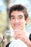 Adolescente que orienteering Fotos de Stock