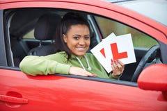 Adolescente que pasa conduciendo el examen Fotografía de archivo libre de regalías