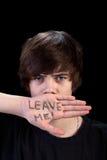 Adolescente que rechaza ayuda Imagen de archivo libre de regalías