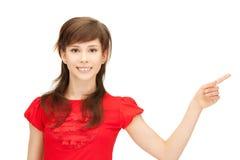 Adolescente que señala su finger Fotos de archivo libres de regalías