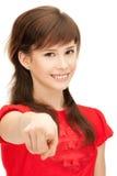Adolescente que señala su finger Fotos de archivo