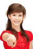 Adolescente que señala su finger Imagen de archivo libre de regalías
