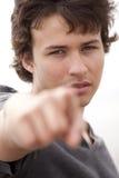 Adolescente que señala a usted Fotos de archivo
