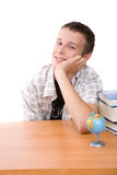Adolescente que se prepara a la escuela Imágenes de archivo libres de regalías