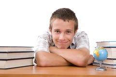 Adolescente que se prepara a la escuela Imagenes de archivo