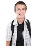 Adolescente que se prepara a la escuela Imagen de archivo libre de regalías