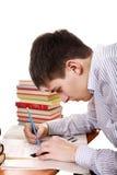 Adolescente que se prepara para el examen Fotografía de archivo