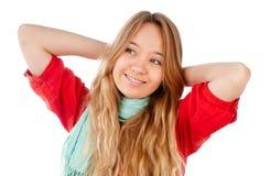 Adolescente que se relaja Imagenes de archivo