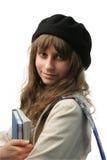 Adolescente que sonríe en la cámara Imagenes de archivo