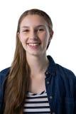 Adolescente que sonríe en la cámara Imágenes de archivo libres de regalías
