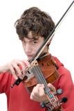 Adolescente que toca el violín Fotografía de archivo libre de regalías