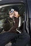 Adolescente que toma um retrato. Foto de Stock Royalty Free