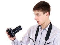 Adolescente que toma un retrato de uno mismo Fotos de archivo libres de regalías