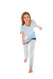 Adolescente que usa o wii Imagem de Stock