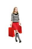 Adolescente que va a hacer compras Imagen de archivo libre de regalías