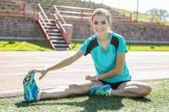 Adolescente quem está pronto para malhar Fotografia de Stock Royalty Free