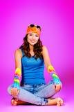 Adolescente relajado Foto de archivo libre de regalías