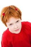 Adolescente rojo Fotos de archivo