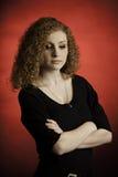 Adolescente rojo del pelo referido Foto de archivo libre de regalías
