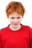 Adolescente rojo en un juego de un diablo Foto de archivo libre de regalías